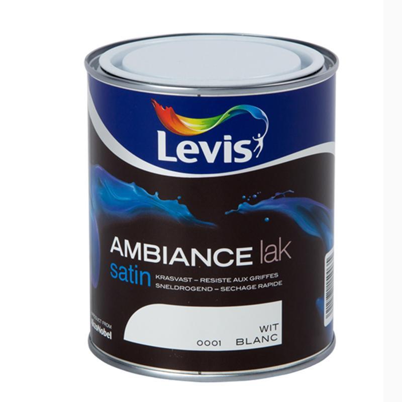 """Laque murale """"AMBIANCE"""" blanc satin - 0,75 L - LEVIS"""