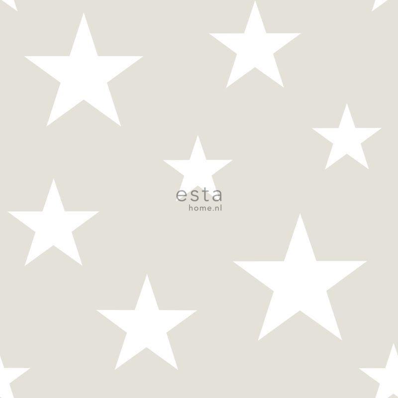 Papier peint Etoiles gris clair - LITTLE BANDITS - Esta Home - 128866