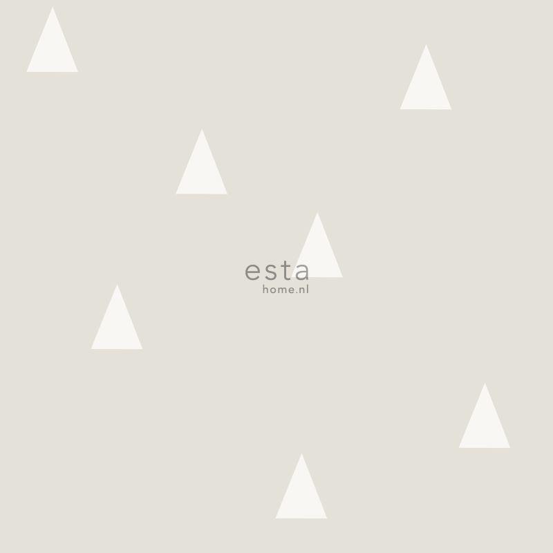 Papier peint Petits Triangles gris clair - LITTLE BANDITS - Esta Home - 128867
