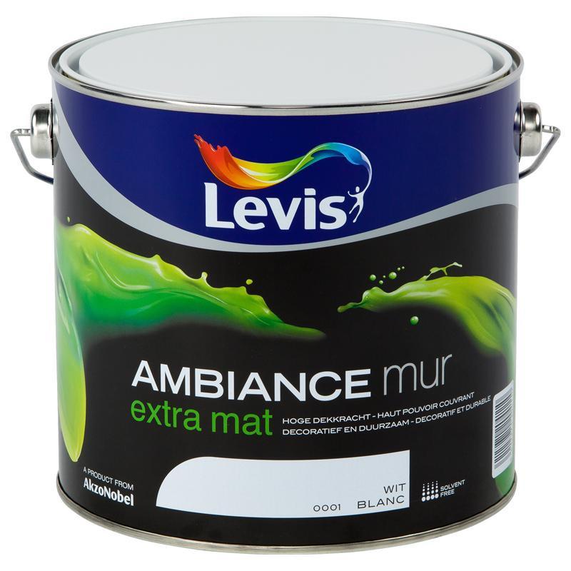 """Peinture intérieure spéciale mur """"AMBIANCE"""" blanc extra mat - LEVIS"""