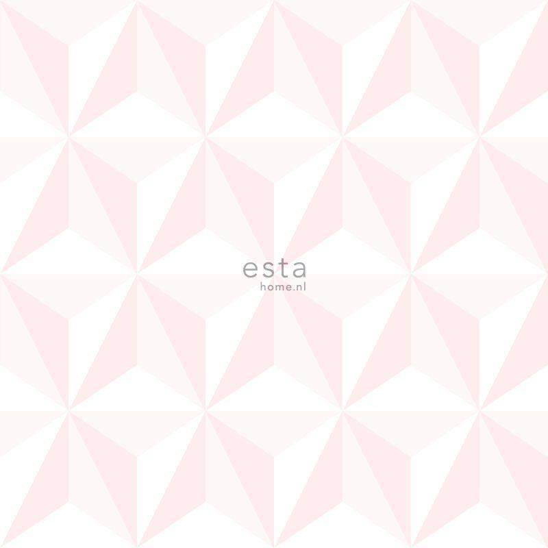 Papier peint Graphique 3D rose clair - LITTLE BANDITS - Esta Home - 138911