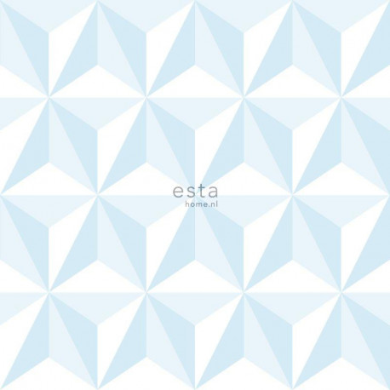 Papier peint Graphique 3D bleu clair - LITTLE BANDITS - Esta Home - 138912