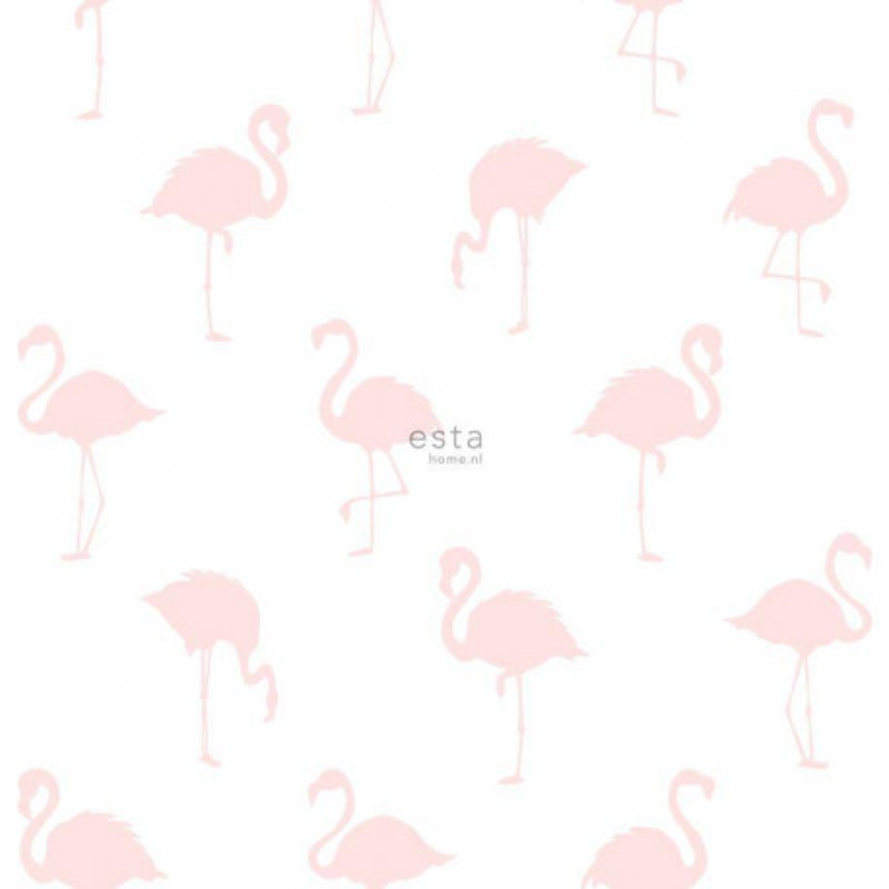 Papier peint Flamants rose clair - LITTLE BANDITS - Esta Home - 138918