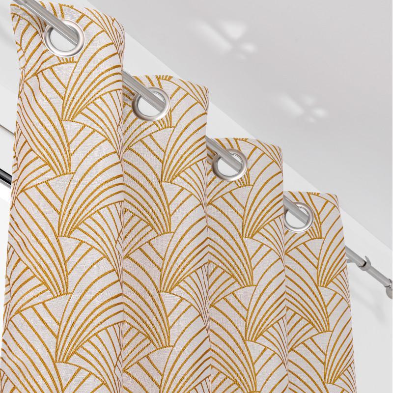 Rideau à œillets Ardeco jaune moutarde - Linder - 0986-35
