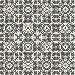 Revêtement PVC 4M - Lagos 909D carreaux de ciment noir et blanc - Plaza Beauflor