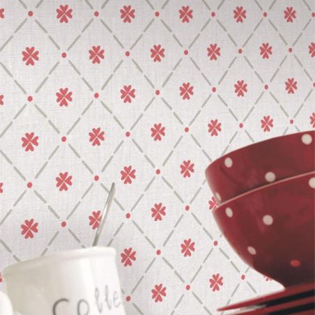 Papier peint Cocotte rouge - AU BISTROT D'ALICE - Caselio - BIS100658026