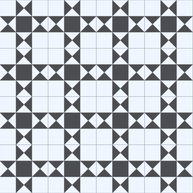 Sol PVC - Devon 009S noir et blanc - Hightex BEAUFLOR - rouleau 2M