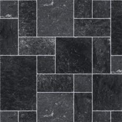 Sol PVC - Polperro 999E gris et noir - Hightex BEAUFLOR - rouleau 3M