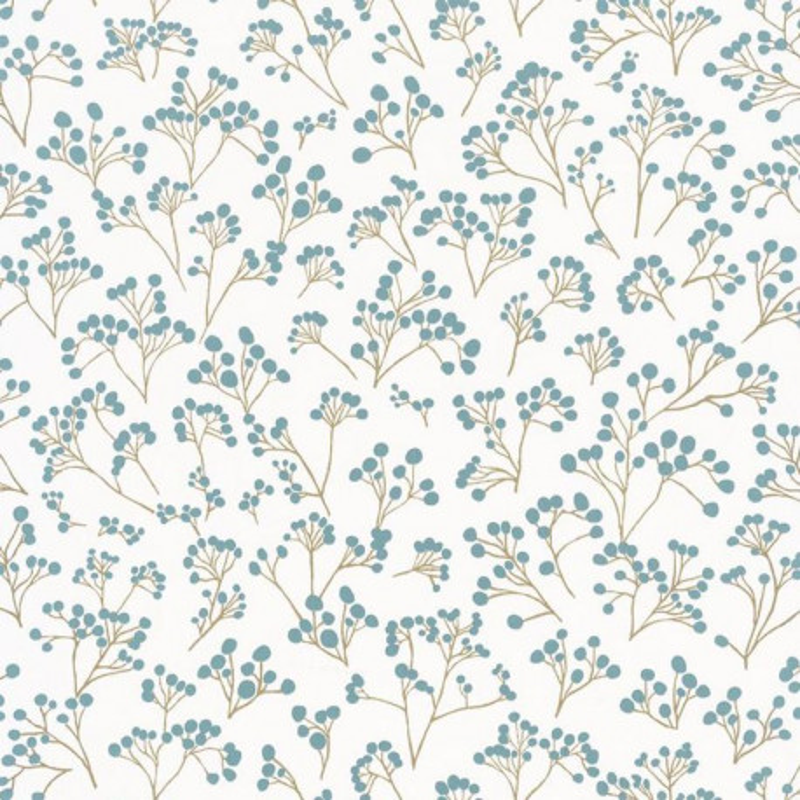 Papier peint Poppy bleu or - SUNNY DAY - Caselio - SNY100256032
