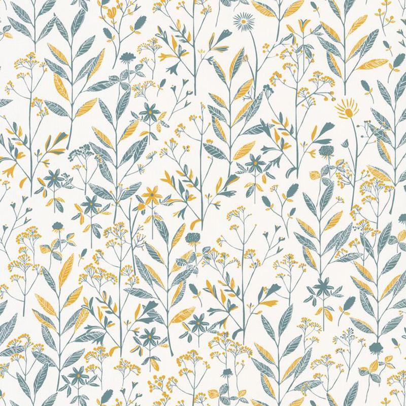 Papier peint Laura jaune bleu - SUNNY DAY - Caselio - SNY100266020