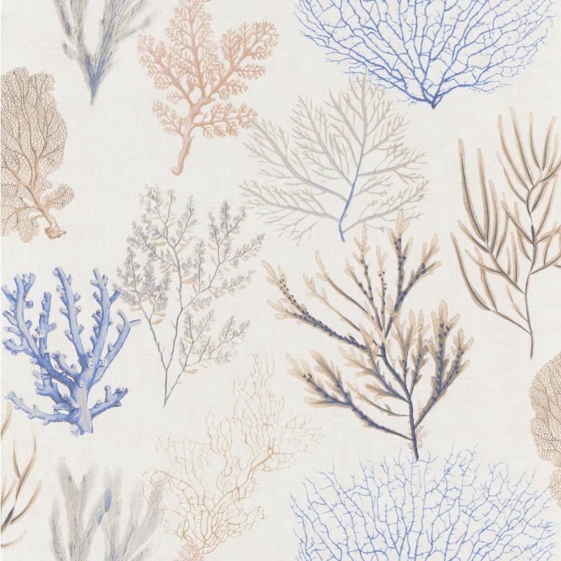 Papier peint Corail bleu - RIVAGE - Casadeco - RIVG83976202