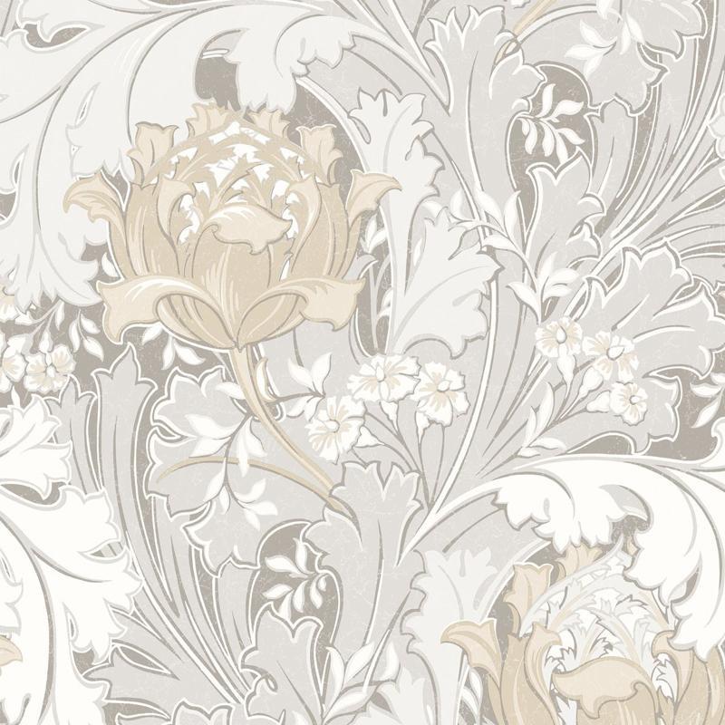 Papier peint Jane taupe  - OXFORD - Casadeco - OXFD84060101