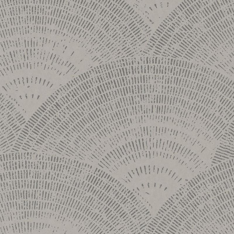 Papier peint Walter Foil taupe argent - OXFORD - Casadeco - OXFD84099136