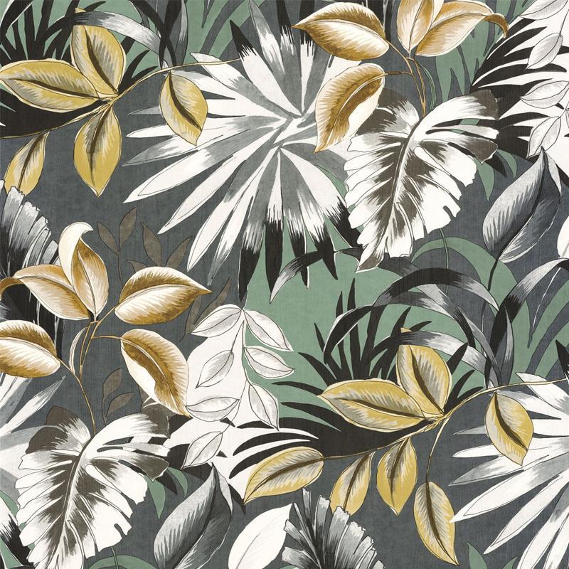 Papier peint Floresta vert de gris - RIO MADEIRA - Casamance - 74260252