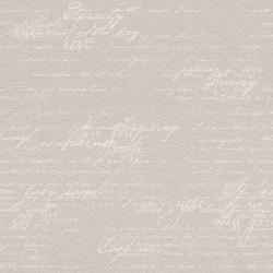 Papier peint Ecriture gris beige - Florentine 2 - Rasch