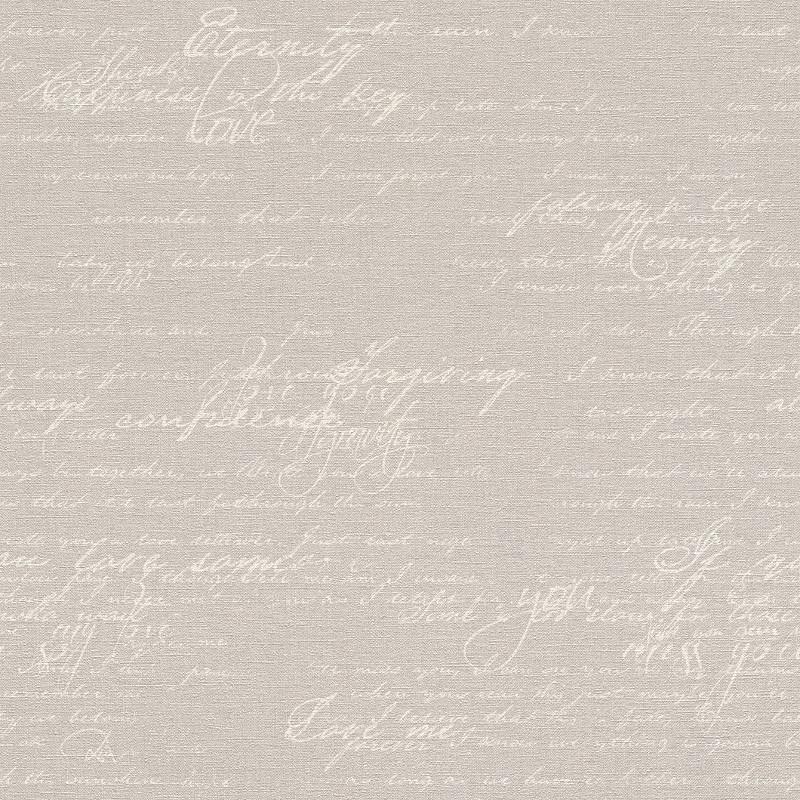 Papier peint Ecriture gris beige - FLORENTINE 2 - Rasch - 449556
