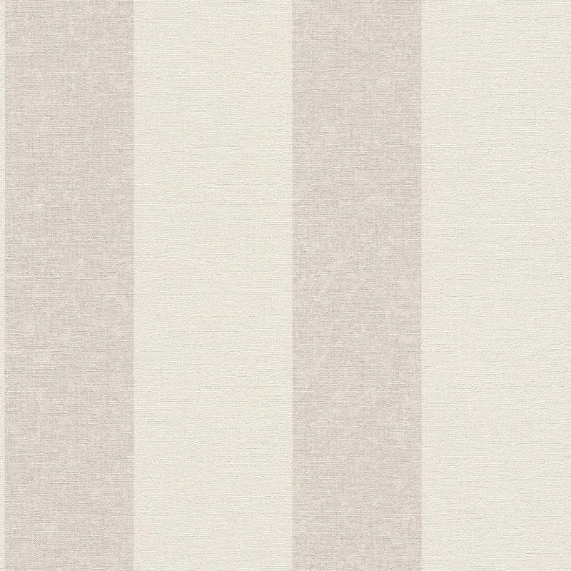 Papier peint Rayures gris beige - FLORENTINE 2 - Rasch - 449600