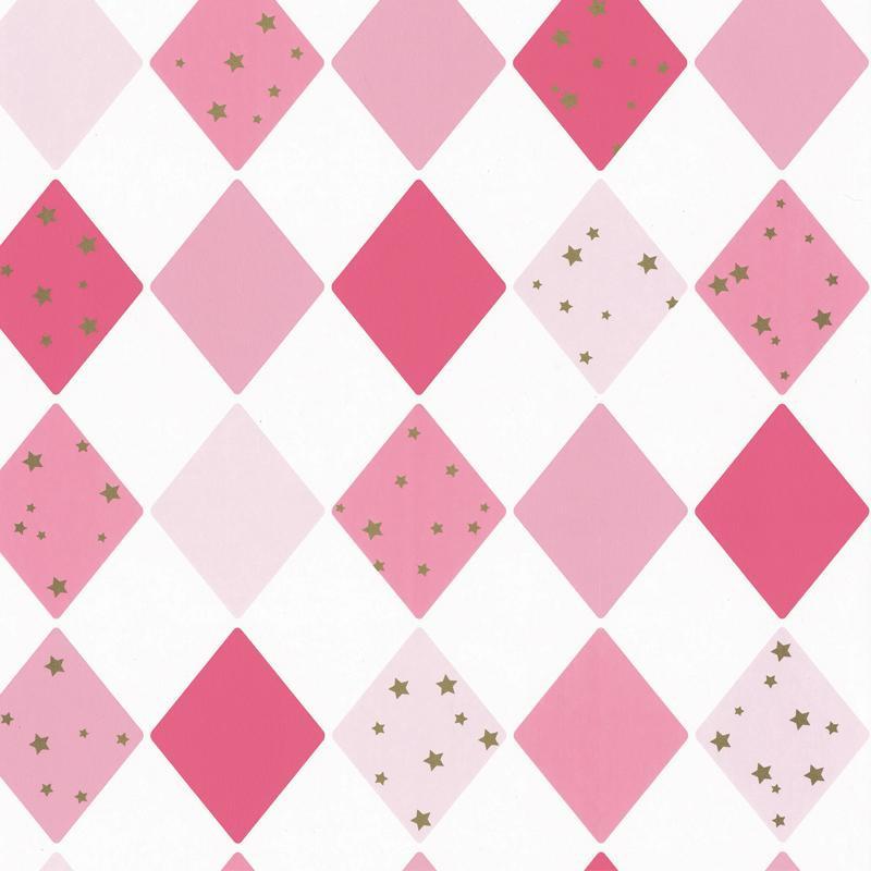 Papier peint Shine Bright Like A Diamond rose - GIRL POWER - Caselio - GPR100814109