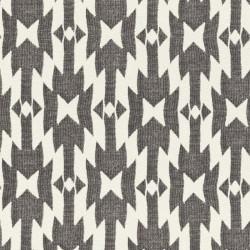 Papier peint intissé AZTEC motif ethnique noir et blanc - Rasch