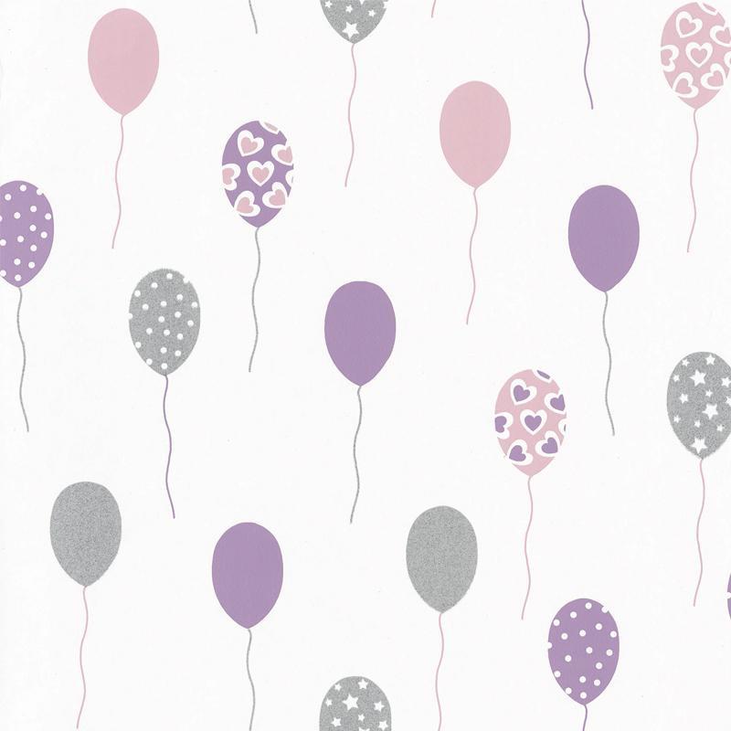 Papier peint Party Time mauve - GIRL POWER - Caselio - GPR100865838