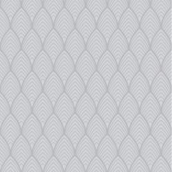 Papier peint vinyle sur intissé Bercy gris argent - Graham & Brown
