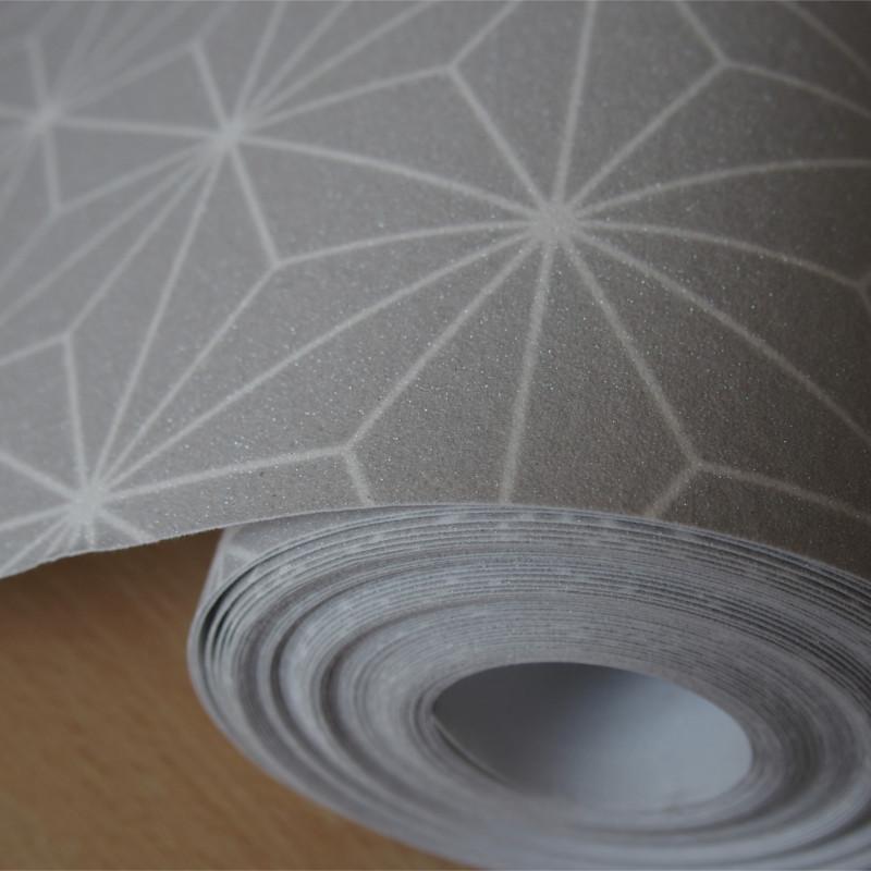 Papier peint Origami gris et blanc - Ugepa - L48019