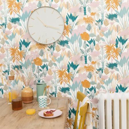 Papier peint Philippines multicolore doré - L'ODYSSEE - Caselio- OYS101417607