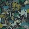 Papier peint Philippines Noir Vert Emeraude - L'ODYSSEE - Caselio