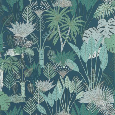 Papier peint Philippines Bleu nuit et vert - L'ODYSSEE - Caselio - OYS101416119