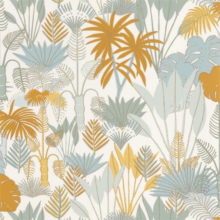 Papier peint Philippines Vert d'eau et jaune - L'ODYSSEE - Caselio - OYS101417508