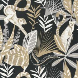 Papier peint Madagascar noir, beige et doré - L'ODYSSEE - Caselio OYS101409911