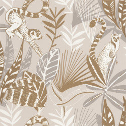 Papier peint Madagascar beige et doré - L'ODYSSEE - Caselio - OYS101401010
