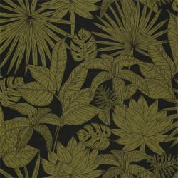 Papier peint Hawai noir et vert kaki - L'ODYSSEE - Caselio - OYS101437402
