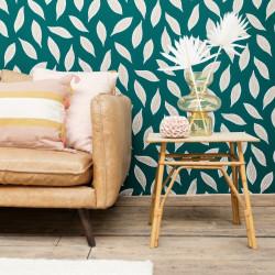 Papier peint Gabon vert émeraude et doré - L'ODYSSEE - Caselio - OYS101447802