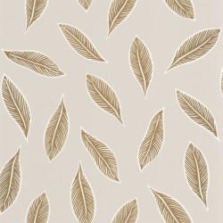 Papier peint Gabon beige et doré - L'ODYSSEE - Caselio - OYS101441109