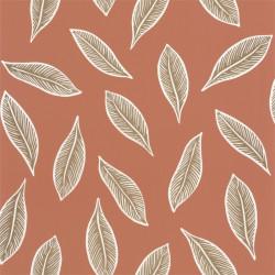 Papier peint Gabon terracotta et doré - L'ODYSSEE - Caselio - OYS101443339