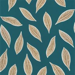 Papier peint Gabon bleu canard et doré - L'ODYSSEE - Caselio - OYS101446733
