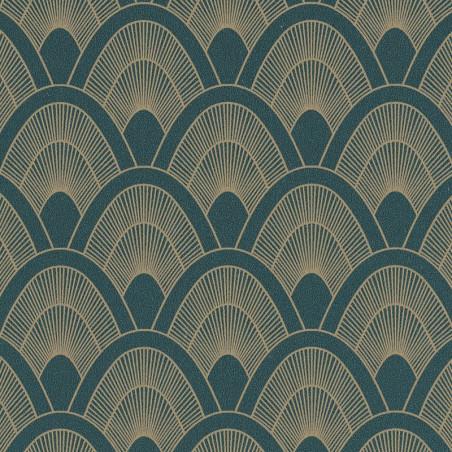 Papier peint Mayotte bleu nuit et doré - L'ODYSSEE - Caselio - OYS101456903