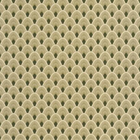 Papier peint Mayotte vert et doré - L'ODYSSEE - Caselio - OYS101457212