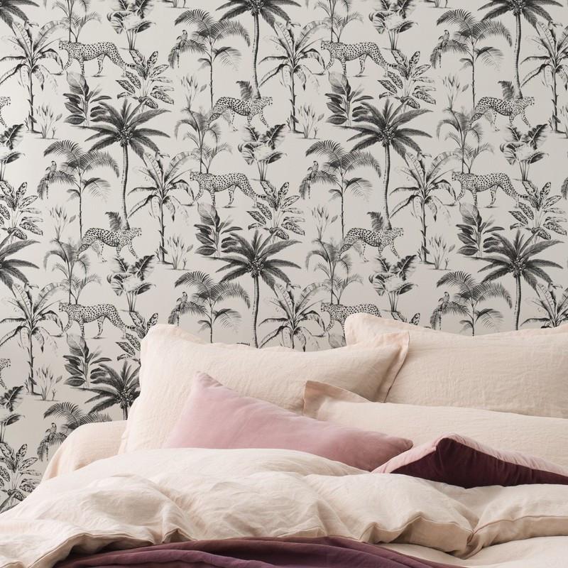 Papier peint Savane noir et blanc - Rasch - 409017