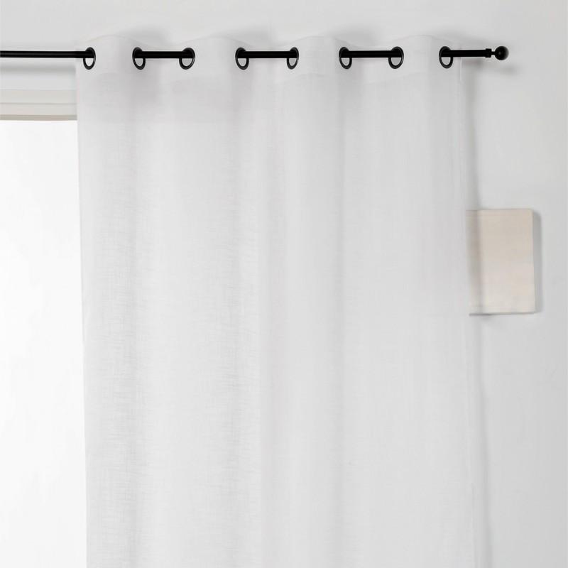 Voilage à œillets Véronica lin blanc - Linder - 0175-10