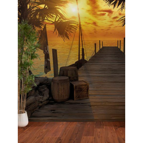Panoramique TREASURE ISLAND collection Tropical - Komar