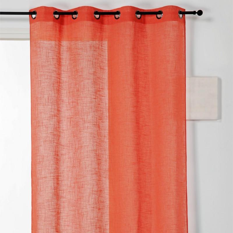 Voilage à œillets Véronica lin orange - Linder - 0175-37