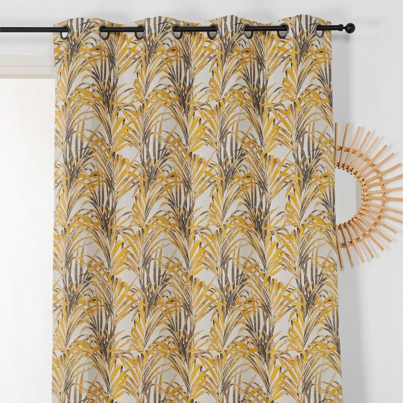 Rideau à œillets  Tropico jaune - Linder - 1901-35