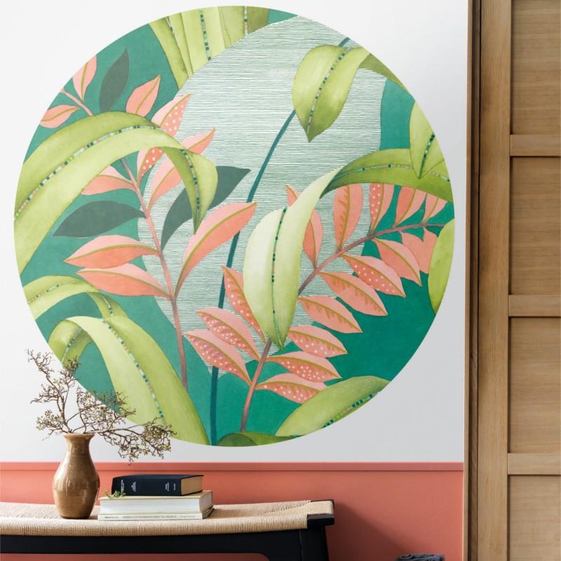 Panoramique Botanica Circle vert - BEAUTY FULL IMAGE  - Casadeco - BFIM84817310