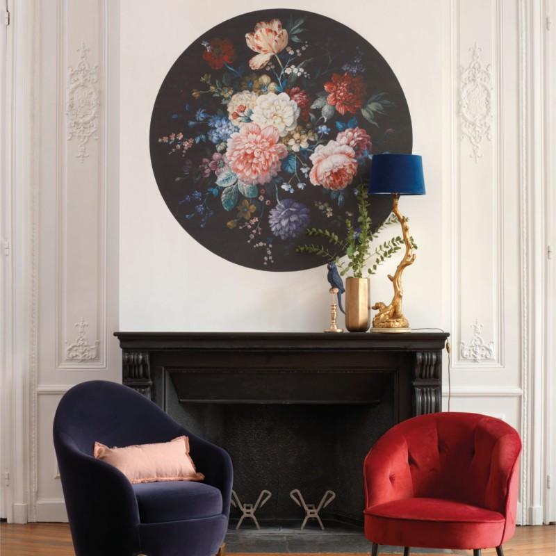 Panoramique Gertrude noir et rose - BEAUTY FULL IMAGE  - Casadeco - BFIM84939326