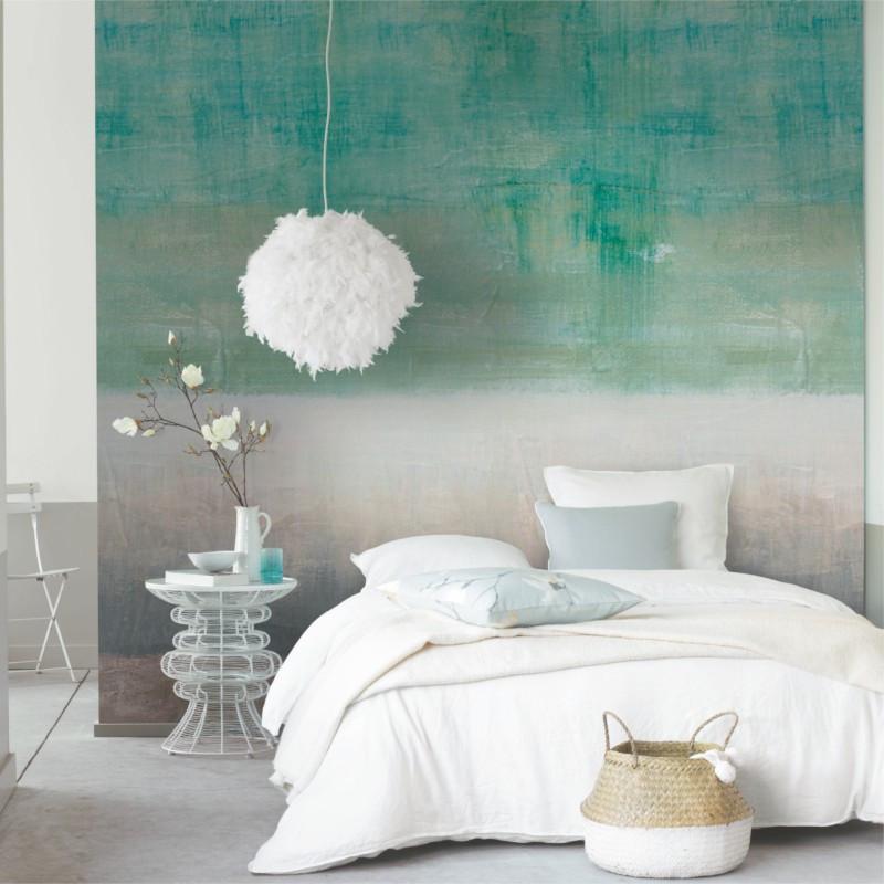 Panoramique Paint Wall vert et gris - BEAUTY FULL IMAGE  - Casadeco - BFIM84837409