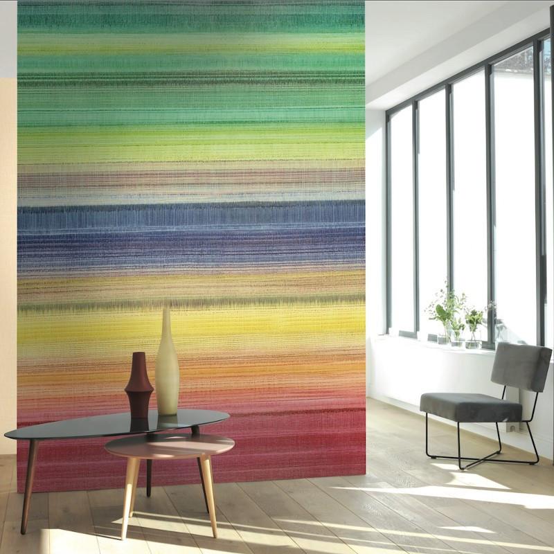 Panoramique Multistripe multicolore - BEAUTY FULL IMAGE  - Casadeco - BFIM84912428