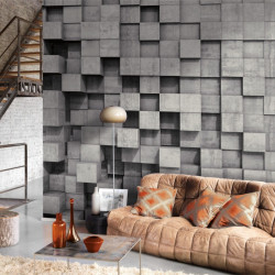 Panoramique Square Effect gris - BEAUTY FULL IMAGE  - Casadeco - BFIM84979311