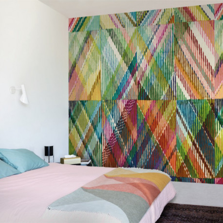 Panoramique Tartan Style multicolore - BEAUTY FULL IMAGE  - Casadeco - BFIM84897414